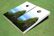 Bora Bora Rock Custom Cornhole Board