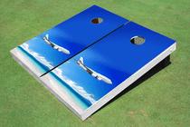 Plane Beach Custom Cornhole Board