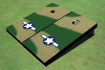 Rivet Camo #2 Air Force Custom Cornhole Board