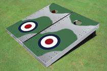 Rivet Mosquito Plane Custom Cornhole Board