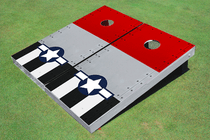 Rivet Red Wing Plane Custom Cornhole Board