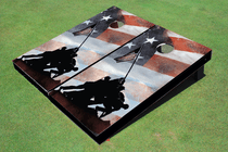 IWO JIMA Memorial Custom Cornhole Board