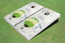 Green Hot Air Balloon Cornhole Board Set