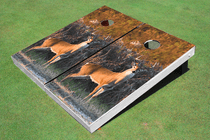 Deer Custom Cornhole Board