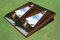 Duck Hunt Cornhole Board set