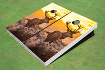 Deer Sunset Cornhole Board Set