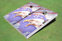 American Bald Eagle Drip Flag Custom Cornhole Board