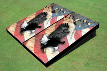 Eagle Declaration Custom Cornhole Board