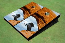 Arch Mustang Custom Cornhole Board
