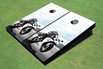 Super Bike Custom Cornhole Board