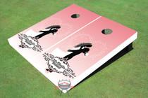 The Lift Wedding Custom Cornhole Board