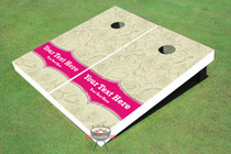 Doodle 3 Wedding Custom Cornhole Board