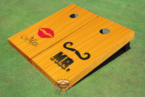 Mr. & Mrs. Wedding All Wood Cornhole Board Set