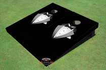 Black Tie Custom Cornhole Board