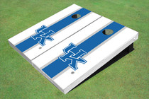 University Of Kentucky Blue Matching Long Stripe Custom Cornhole Board