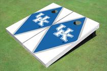 University Of Kentucky Blue And White Matching Diamond Custom Cornhole Board