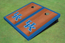 University Of Kentucky Blue Rosewood Matching Borders Custom Cornhole Board