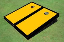 Yellow And Black Matching Border Custom Cornhole Board