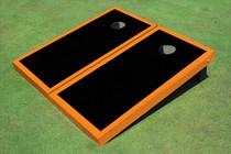 Black And Orange Matching Border Custom Cornhole Board