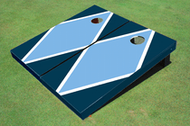 Unc Blue And Navy Matching Diamond Custom Cornhole Board