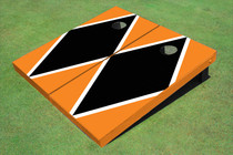 Black And Orange Matching Diamond Custom Cornhole Board