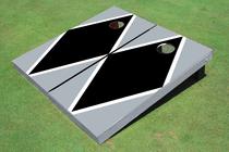 Black And Gray Matching Diamond Custom Cornhole Board