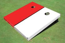 White And Crimson Solid Cornhole Boards