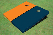 Orange And Navy Solid Custom Cornhole Board