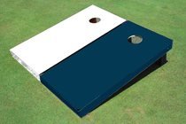 White And Navy Solid Custom Cornhole Board
