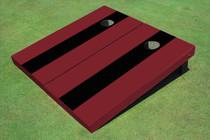 Black And Maroon Matching No Stripe Long Stripe Set