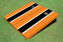Black And Orange Matching Long Stripe Set
