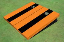 Black And Orange Matching No Stripe Long Stripe Set