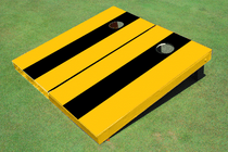 Black And Yellow Matching No Stripe Long Stripe Set