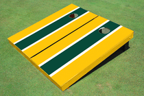 Green And Yellow Matching Long Stripe Set