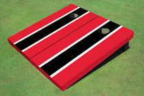Black And Red Matching Long Stripe