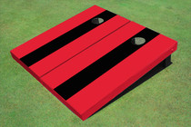 Black And Red Matching No Stripe Long Stripe Set
