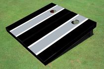 Gray And Black Matching Long Stripe Set