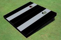 Gray And Black Matching No Stripe Long Stripe Set