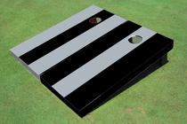 Gray And Black Alternating No Stripe Long Stripe Set