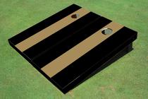 Dark Gold And Black Matching No Stripe Long Stripe Set