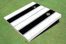 Black And White Matching Long Stripe Set