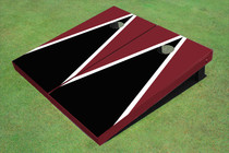 Black And Maroon Matching Triangle Set