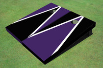Black And Purple Alternating Triangle Set
