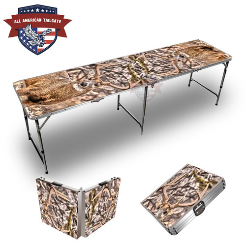 9 Point Buck Themed 8ft Tailgate Table