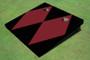 Maroon And Black Matching Diamond No Stripe Custom Cornhole Board