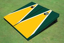 Yellow and Green Matching Triangle Cornhole Boards