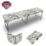 100 Dollar Bills Themed 8ft Tailgate Table