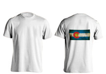 Rustic Colorado State Flag T-Shirts (Back)