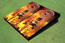 Firefighter Themed Cornhole Board set