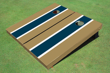 Navy and Dark Gold Matching Long Stripe Cornhole Boards
